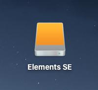 外付けハードディスクを接続中